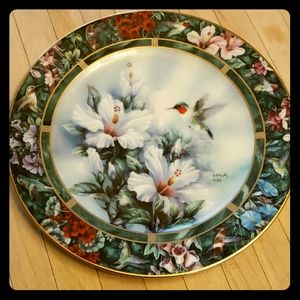 Other - The Ruby Throated Hummingbird Plate by Lena Liu